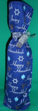 Hanukkah Bottle Gift Bags